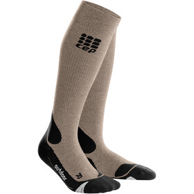 cep Pro+ Outdoor Merino Socks Damer, sand dune/black